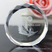 Round Shape Big Crystal Paperweight As Crystal Craft Decoration