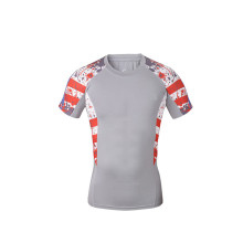 Custom men compression rash guard sublimation shirt