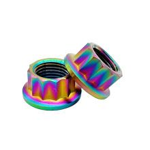 Titanium Exhaust Manifold Nuts Titaniumpoint flange nuts