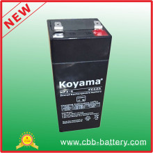Koyama High Quality 4V4ah Sealed Lead Acid Battery for UPS, Alarm Systems