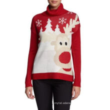 PK18ST060 reindeer christmas sweater jumper for woman