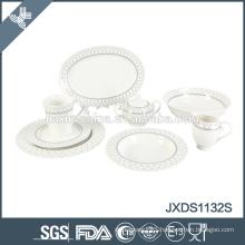 Round porcelain dinner set, gold line or sliver rim design dinner set for 2015
