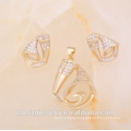 2018 New style 18k gold plating jewelry set imitation kundan set Rhodium plated jewelry is your good pick