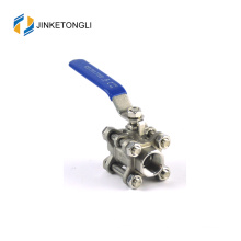 JKTL3B007 cf8m 1000 wog 3pc float teflon stainless steel metric ball valves