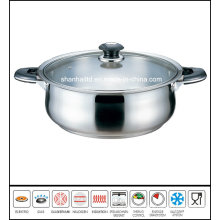 Stainless Steel Low Pot Cookware