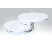 mesa de centro redonda italiana blanca moderna