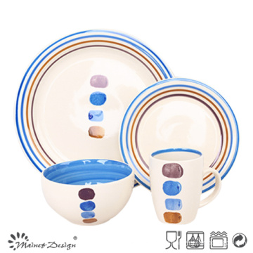 Conjunto de cena de cerámica de la venta caliente 16PCS