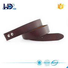 Italian leather material belt without buckle