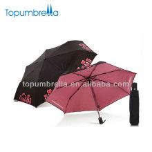 21''8k lady \ s folding auto aberto / fechar guarda-chuva alça