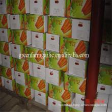 2016 nuevo cultivo barato zanahoria tamaño de la fábrica 80-150g