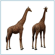 Garden Large Fiberglass Giraffe Statue For Sale