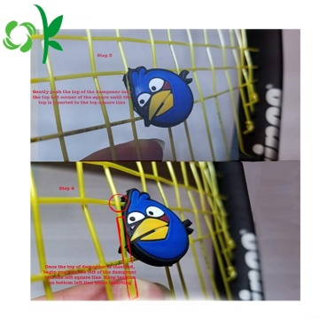 Tecknad Angry-Bird Silicone Tennis Racket Vibration Absorber