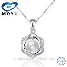 18k white gold bridal fashion pearl blank pendants