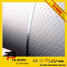 PE/PVDF Color coated pebble embossed aluminum sheet