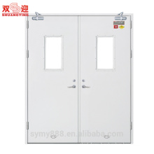 90 minutes fire rated hollow double leaf metal door&frame