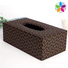 Boîte en tissu en cuir rectangulaire d'impression (ZJH064)