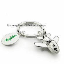 Förderung 3D Deboss gravieren Metallflugzeug Keychain mit Logo (F1263)