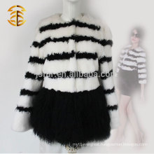 2017 New Design Women Genuine Rabbit Fur Classic Coat