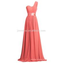 Prom Dress Modern One Shoulder Chiffon Party Dress for Women 2016 Long Evening Dresses Vestido De Festa Longo