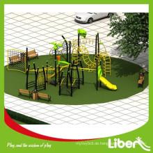 LLDPE Galvanisierter Stahl Typ Outdoor Spielplatz Kletterbau / Outdoor Spielplatz für Kinder Sport