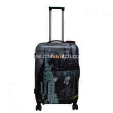 Printed wheeled trolley PC luggage set