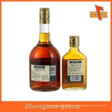 Guangzhou fabricant d'impression en gros et de matériel d'emballage bouteille d'alcool imperméable personnalisé autocollant d'étiquette