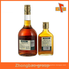 Guangzhou manufacturer wholesale printing and packaging material custom waterproof liquor bottles label sticker