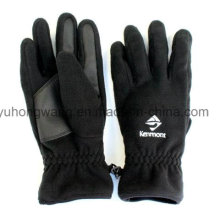 Cheap Men′s Warm Polar Fleece Gloves/Mittens with Embroidery