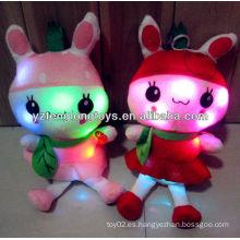 Fábrica de China juguetes de juguete de peluche de peluche de juguete relleno de luz LED de juguete