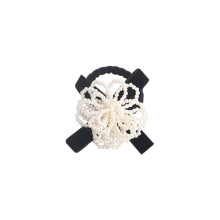 Korean Hair Tie Pearl Flower Bow Knot Elastic Band Ring Cute Girl Ponytail Head Rope Rubber Female Fashion Accessories