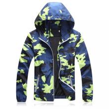 Casual Camouflage Zipper Design Anti-UV Windbreak Hooded Coat