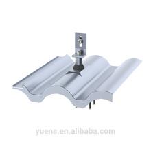 Monture de remplacement de tuile de toit de panneau solaire en forme de S