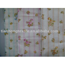 Llano de algodón doble capa camisa ropa Vestido tela impresa