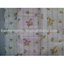 Обычный хлопок печатных рубашку двойной слой одежды платье ткань
