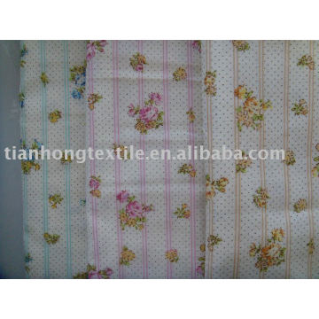 Cotton Plain Printed Double Layer Shirt Garment Dress Fabric