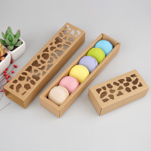 Kraft macaron packaging box all'ingrosso
