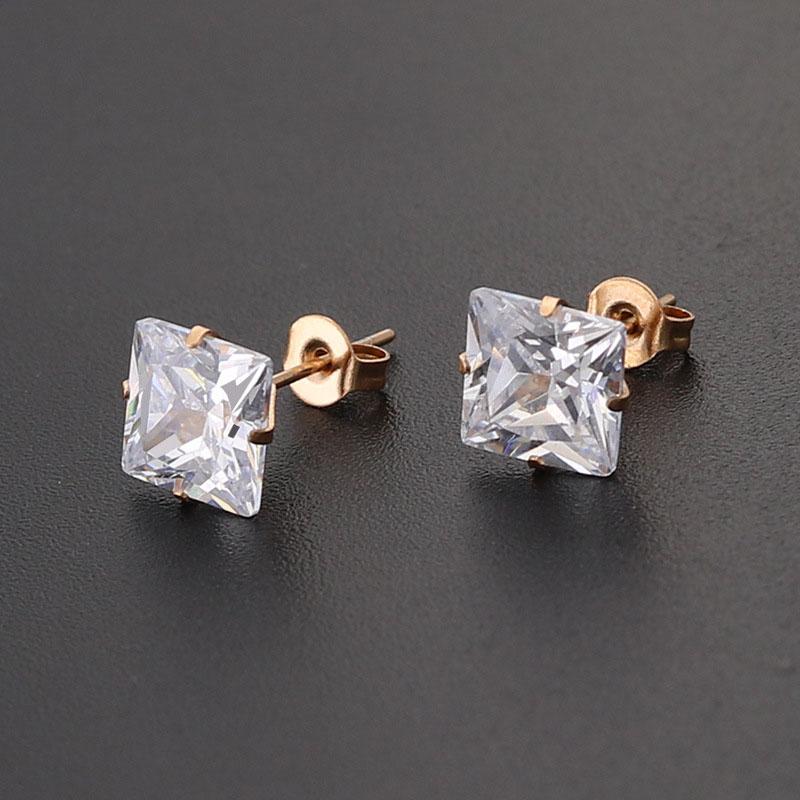 Zirconia Stud Earrings