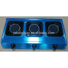 queimador TRIPLO aço inoxidável infravermelho tabel fogão a gás, fogão a gás