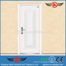 JK-F9027 porta blindada de alumínio / porta de segurança em aço inoxidável de madeira branca e à prova de fogo