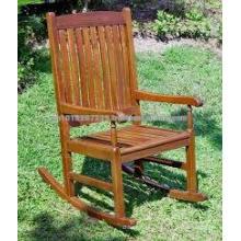 Massivholz Outdoor / Garten Möbel Set - Schaukelstuhl