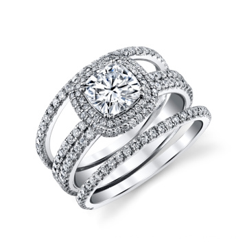 Hochzeit Schmuck 925 Silber Zirkonia Ringe für Frauen
