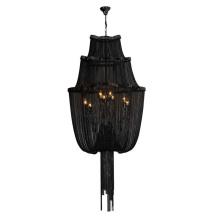 Moderno colgante cadena negro candelabro proyecto lámpara (ka116)