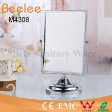 Miroir de loupe de maquillage de salle de bains rectangle rectangle ajustable à double face