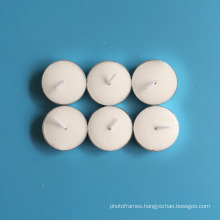round aluminum holder white pure paraffin wax unscented tealight candles