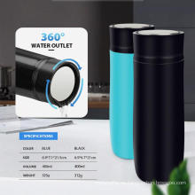 Botella de agua al vacío con tapa de salida de agua de 400 ml y 360 °