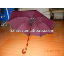 Holzgriff gerade Regenschirm