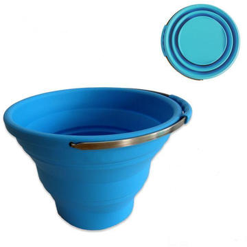 10L out Door Pack Away Silicone Collapsible Bucket
