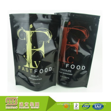 Factory Wholesale Stand Up Strong Sealing Side/Bottom Custom Logo Printing Plastic Fast Food Packaging Bag Pouch