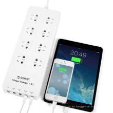 Venta caliente ORICO HPC-8A5U 8 salida más 5 USB HUB protector de sobrevoltaje