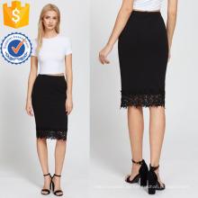 Elastische Taille Spitze Saum Bleistift Rock Herstellung Großhandel Mode Frauen Bekleidung (TA3078S)